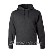 Jerzees NuBlend 50/50 Pullover Hood with Front Pocket - Black Heather