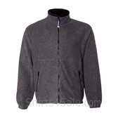 Charcoal Fleece Jacket with Zipper Pockets