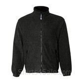 Black Fleece Jacket with Zipper Pockets