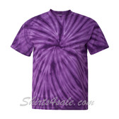 Purple Cyclone Pinwheel Short Sleeve T-Shirt