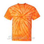 Orange Cyclone Pinwheel Short Sleeve T-Shirt