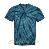 Navy Cyclone Pinwheel Short Sleeve T-Shirt