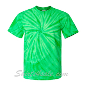 Green Cyclone Pinwheel Short Sleeve T-Shirt