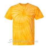 Gold Yellow Cyclone Pinwheel Short Sleeve T-Shirt