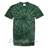 Dark Green Cyclone Pinwheel Short Sleeve T-Shirt