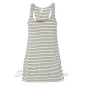 Bella B8800 Ladies Maxine Flowy Tank -(Grey/ White)