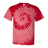 Red Spiral Tie Dye Tee Shirt