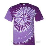 Purple Spiral Tie Dye Tee Shirt