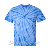 Blue Cyclone Pinwheel Short Sleeve T-Shirt