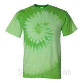 Green Spiral Tie Dye Tee Shirt