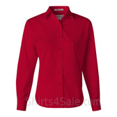 Red Stain Resistant Women's Dress Shirt