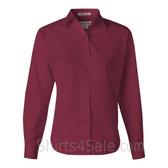 Maroon Stain Resistant Women's Dress Shirt