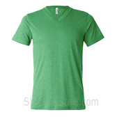 Bella+Canvas Unisex Tri-Blend V-Neck Tee - Green Triblend