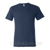 Bella+Canvas Unisex Tri-Blend V-Neck Tee - Navy Triblend