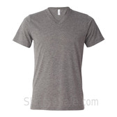 Bella+Canvas Unisex Tri-Blend V-Neck Tee - Grey/ Gray Triblend