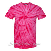 Hot Pink Cyclone Pinwheel Short Sleeve T-Shirt