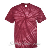 Maroon Cyclone Pinwheel Short Sleeve T-Shirt