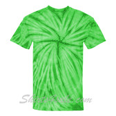 Lime Cyclone Pinwheel Short Sleeve T-Shirt