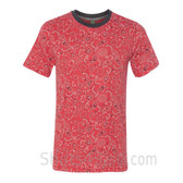 Bandana Red Printed Eco Short Sleeve T-Shirt