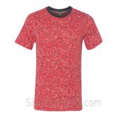 Bandana Red Printed Eco Short Sleeve T-Shirt