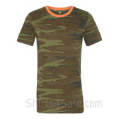 Camouflage Green Printed Eco Short Sleeve T-Shirt