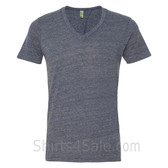 Light Navy V-Neck Unisex Eco(Organic Cotton, Recycled Polyester) Tee