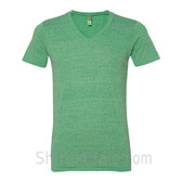 Green V-Neck Unisex Eco(Organic Cotton, Recycled Polyester) Tee