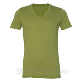 Avocado Green VNeck Unisex Eco(Organic Cotton, Recycled Polyester) Tee