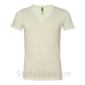 Ivory V-Neck Unisex Eco(Organic Cotton, Recycled Polyester) Tee