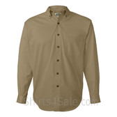 Khaki Tall Size Long Sleeve Cotton Twill Shirt