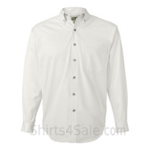 White Tall Size Long Sleeve Cotton Twill Shirt
