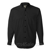 Black Tall Size Long Sleeve Cotton Twill Shirt