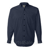 Navy Tall Size Long Sleeve Cotton Twill Shirt