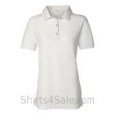 White Womens Pique Knit Sport Shirt