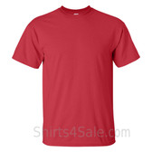 Red Tall Size 100% cotton t-shirt
