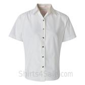 White Women's Stain Resistant Short Sleeve Shirt