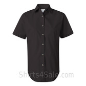 Black Women's Stain Resistant Short Sleeve Shirt
