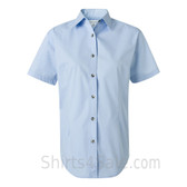 Carolina Blue Women's Stain Resistant Short Sleeve Shirt