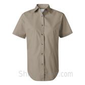 Khaki Women's Stain Resistant Short Sleeve Shirt