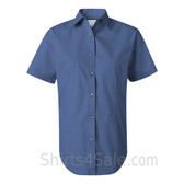 Pacific Blue Women's Stain Resistant Short Sleeve Shirt