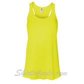 Bella B8800 Ladies Maxine Flowy Tank -(Neon Yellow)