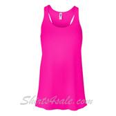 Bella B8800 Ladies Maxine Flowy Tank -(Neon Pink)