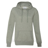 Gray Ladies' Glitter French Terry Hooded Pullover