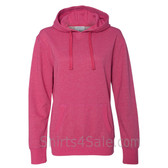 Wildberry Ladies' Glitter French Terry Hooded Pullover