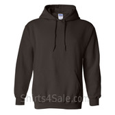 Dark Brown Heavy Blend Hooded Sweatshirt