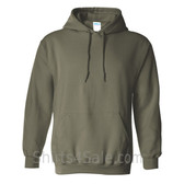 Military Green Heavy Blend Hooded Sweatshirt