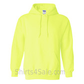 Safety Green Heavy Blend Hooded Sweatshirt