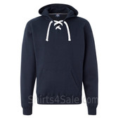 Navy Sport Lace Hooded Sweatshirt