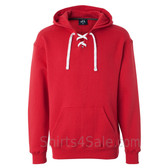 Red Sport Lace Hooded Sweatshirt