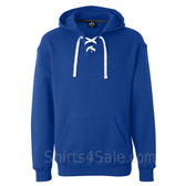 Royal Blue Sport Lace Hooded Sweatshirt